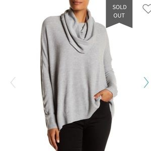 Joie Melantha Loose Cowl Neck Sweater XS Gray